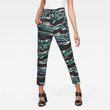G-Star RAW® Rovic High Waist Paperbag Pants Green model front