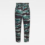 G-Star RAW® Rovic High Waist Paperbag Pants Green flat front