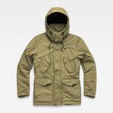 G-Star RAW® Vodan Padded Hooded Jacket Green flat front