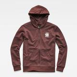 G-Star RAW® Doax Hooded Zip Thru Sweater Purple