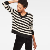 G-Star RAW® Doolin Stripe Knit Black model front