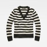 G-Star RAW® Doolin Stripe Knit Black flat front
