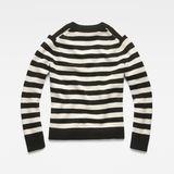 G-Star RAW® Doolin Stripe Knit Black flat back