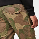G-Star RAW® Rovic Sec 3D Straight Tapered Pant Beige model back zoom