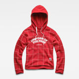G-Star RAW® Lynaz Hooded  Window Check Sweat flat front