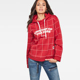 G-Star RAW® Lynaz Hooded  Window Check Sweat model front