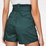 G-Star RAW® Rovic High waist Paperbag Shorts Green model back zoom