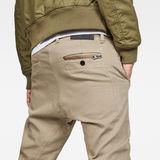 G-Star RAW® Bronson Zip Tapered Cuffed Chinos Beige model back zoom