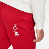 G-Star RAW® Chinese NY Slim Cropped Sweat Pant Red model back zoom