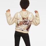 G-Star RAW® Cheiri Earth Hooded Sweat Beige model back