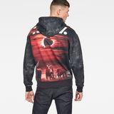 G-Star RAW® Cyrer Eclipse Hooded Sweat Black model back