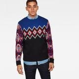 G-Star RAW® Jayvi Jacquard Knit Medium blue model front
