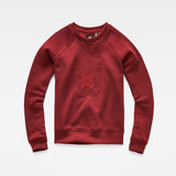 G-Star RAW® Graphic 18 Xzula Sweater Red flat front