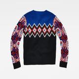 G-Star RAW® Jayvi Jacquard Knit Medium blue flat back