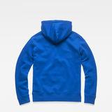 G-Star RAW® Graphic 83 Core Hooded Sweat Medium blue flat back