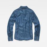 G-Star RAW® Tacoma Clean Slim Frill Blouse Medium blue