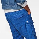 G-Star RAW® Rovic X-Relaxed Trainer Short Medium blue model back zoom