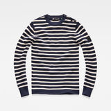G-Star RAW® Dadin Stripe Knit Dark blue flat front