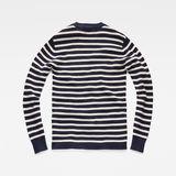 G-Star RAW® Dadin Stripe Knit Dark blue flat back