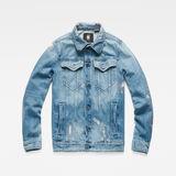 G-Star RAW® 3301 Slim Tape Restored Jacket Medium blue flat front
