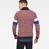 G-Star RAW® Suzaki Stripe Zip Through Knit Red