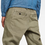 G-Star RAW® Bronson Straight Tapered Trousers Green model back zoom