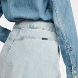 G-Star RAW® 5622 Wrap Skirt Light blue model back zoom