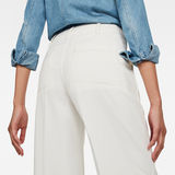 G-Star RAW® Page High Wide Fringe Trousers Medium blue model back zoom