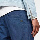 G-Star RAW® Bronson Pleated Straight Shorts Dark blue model back zoom