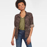 G-Star RAW® Beryl Restored Field Jacket Pink model front