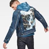 G-Star RAW® D-Staq RFTP Water 3D Jacket ミディアムブルー model front