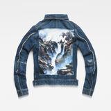 G-Star RAW® D-Staq RFTP Water 3D Jacket ミディアムブルー flat back