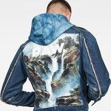 G-Star RAW® D-Staq RFTP Water 3D Jacket ミディアムブルー creative shot