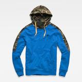G-Star RAW® Meson Core Hooded Sweat Medium blue flat front