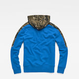 G-Star RAW® Meson Core Hooded Sweat Medium blue flat back