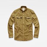G-Star RAW® Lepton Slim Shirt Green flat front