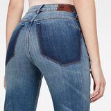 G-Star RAW® 3301 RP High Straight Ankle Jeans Medium blue model back zoom