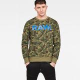 G-Star RAW® Zeabel Beach Core Sweater Green model front
