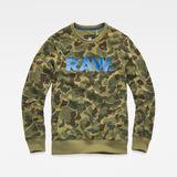 G-Star RAW® Zeabel Beach Core Sweater Green flat front