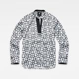 G-Star RAW® Ogee v-neck straight shirt wmn l\s Multi color model front