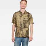 G-Star RAW® XPO Straight Service Shirt Green model front