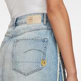 G-Star RAW® 3301 Fringe Skirt Light blue front flat