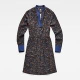 G-Star RAW® Ogee v-neck elastic flare dress l\s Multi color