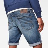 G-Star RAW® 3301 Denim Slim Shorts Medium blue front flat