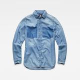 G-Star RAW® Remi Boyfriend Shirt Medium blue inside view
