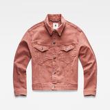 G-Star RAW® 3301 Boyfriend Jacket Earthtrace Pink flat front