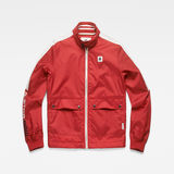 G-Star RAW® Meson Biker Overshirt Red flat front