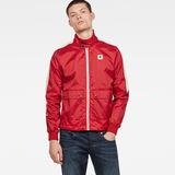 G-Star RAW® Meson Biker Overshirt Red model front