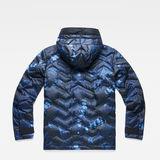 G-Star RAW® Attacc Hooded Down Anorak Dark blue flat back