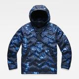 G-Star RAW® Attacc Hooded Down Anorak Dark blue flat front